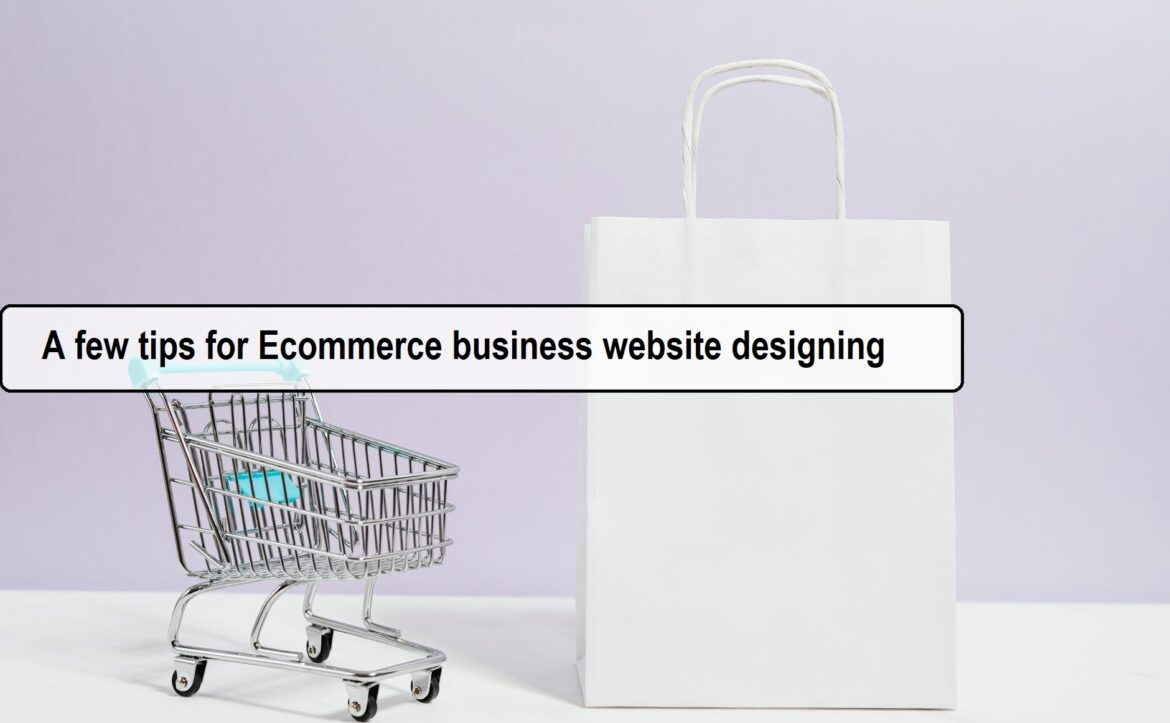 A few tips for Ecommerce business website designing in Gurgaon
